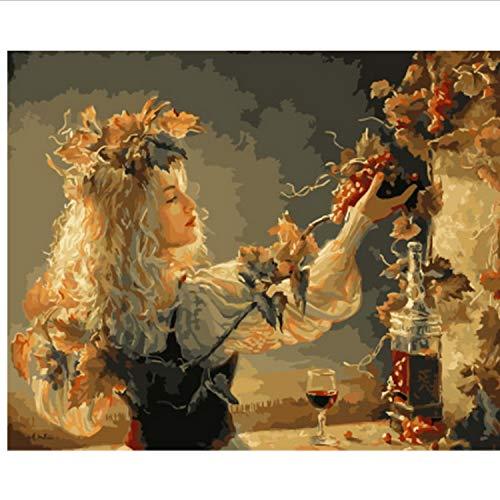 CBUSYS Rahmenlose Bild Ölgemälde by Zahlen Wanddekor DIY Malerei Auf Leinwand Für Wohnkultur 40 * 50 cm (Diy Dragon Kostüm Kind)