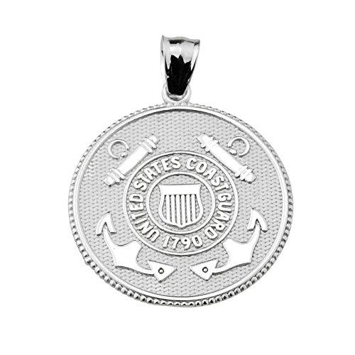 9. Küstenwache (Kleine Schätze - US-Küstenwache Sterling Silver Münze Anhänger Halskette (Kommt mit Eine 45 cm Kette))