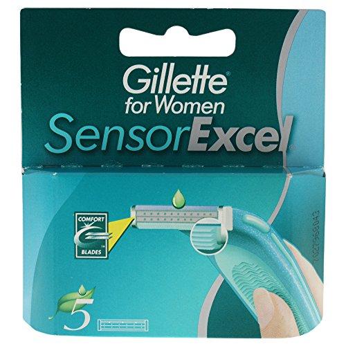 Gillette SensorExcel Klingen, 5 Stück (Gillette Excel Klingen)