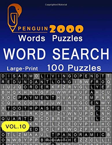 Penguin 2000 Words Puzzles Word Search Large-Print 100 Puzzles: VoL.10 The World's Largest Word Search Puzzle Book boosting entertainment for adults and