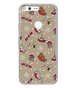 PrintVisa Designer Back Case Cover for Google Pixel (Chirpy Birds Cute Design)