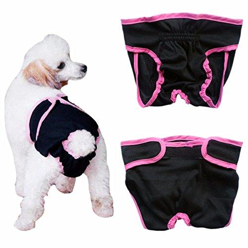 iiniim weiblich Hunde Schutzhose Haustier Unterhose Unterwäsche Welpenhose Hose Schwarz Small