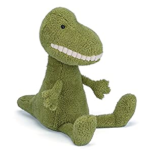Jelly Cat- Toothy Peluche T-Rex, Color Verde (Jellycat 670983087956)