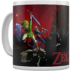 Pyramid International la Leyenda de Zelda (batalla) oficial en caja de cerámica café/té taza, papel, multicolor, 11x 11x 1,3cm