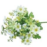 LQZ(TM) Künstlicher Blumenstrauß Gänseblümchen Kamille Kunstblumenstrauß Künstliche Blume (Weiß)