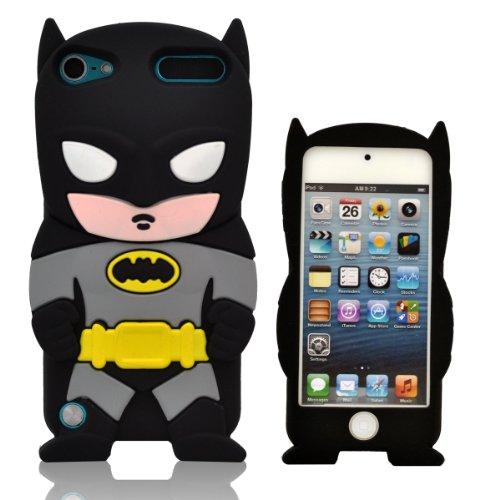 Oneshow Justice League Series Black Cool Batman 3D-Silikonhülle für Apple iPod Touch 5 / 5G