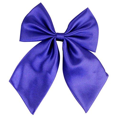 LUOEM Einstellbare Stewardess Cosplay Student Matrosenanzug Bowtie Bowknot (Royal Blue) - Royal Blue Bowties