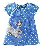 Kaily Mädchen Sommer Baumwolle Kurzarm Süß Dress T-Shirt Kleid(20022TZ,6T)