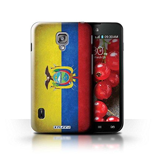 Kobalt® Imprimé Etui / Coque pour LG Optimus L7 II Dual / Amérique/americain conception / Série Drapeau Equateur/équatorien