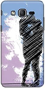 The Racoon Grip printed designer hard back mobile phone case cover for Samsung Galaxy On5 Pro. (the lovebi)