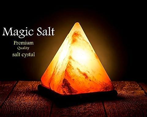 Magic Salt ® HIMALAYA SEL ROSE BIG PYRAMID SHAPE CRYSTAL ROCK LAMP NATUREL GUÉRISON IONISANTS SALT LAMP