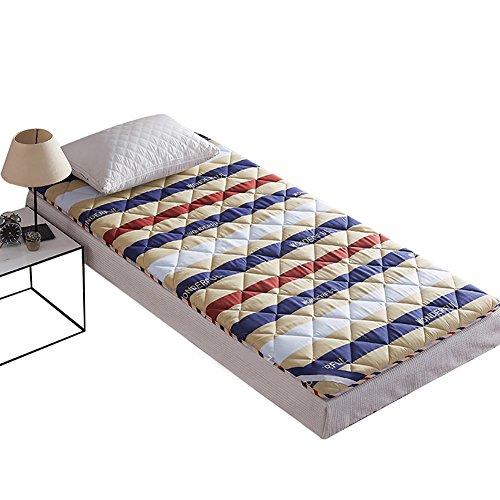 DULPLAY 100% Baumwolle Matratzenauflage,Tatami Bodenmatratze Weich Folding Bambus Kohle Anti-Rutsch Matratze Bett,Matratzenschoner -A 120x200cm(47x79inch)