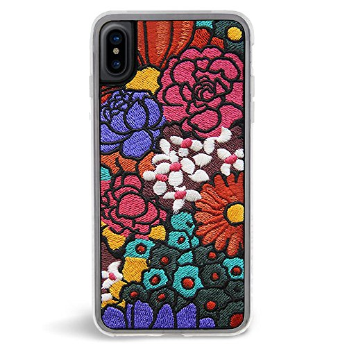 Phone X Woodstock Retro Embroidered Phone Case - Multicolored Floral Design - 360° Protection, Drop Test Approved (Woodstock Outfits)