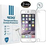 Apple iPhone 6 Plus / 6s Plus Protector cristal templado - RE3O® 2 x Protector de pantalla cristal templado vidrio templado para Apple iPhone 6 Plus / 6s Plus 5,5'' pulgadas, Borde redondo elegante 2,5D, Fácil de instalar y sin burbujas de aire, Dureza 9H Anti-choque y Resistencia al desgaste a prueba de rasguños, Alta transparencia, Efecto anti-huella digital perfecto