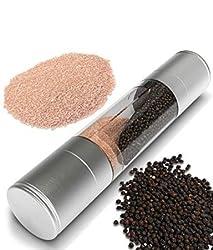 Salt & Pepper Duo Stainless Steel Grinder Mixer Burr Mill