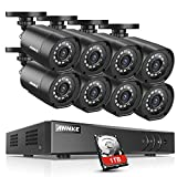 ANNKE 8 Channel 720P H.264+ HD-TVI DVR Security System w/ 8 720P Weatherproof