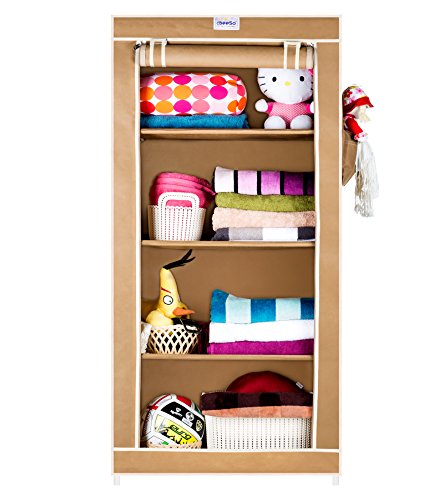 CbeeSo 4 Racks Foldable Metal Frame Almirah SPECIAL OFFER 8%