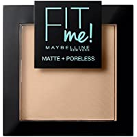 Maybelline Fit Me Polvo Mate y Poroso, Tono 120 Classic Ivory - 55, 5 gr