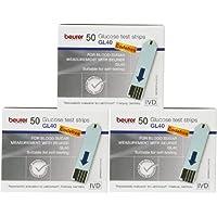 Preisvergleich für Beurer GL 40 Blutzucker - Teststreifen Multipack (150 Teststreifen)