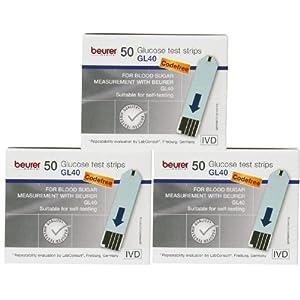 Beurer GL 40 Blutzucker – Teststreifen Multipack (150 Teststreifen)