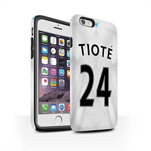 Offiziell Newcastle United FC Hülle / Matte Harten Stoßfest Case für Apple iPhone 6S / Pack 29pcs Muster / NUFC Trikot Away 15/16 Kollektion Tioté