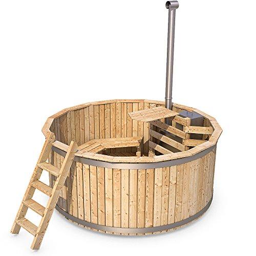 Badezuber Badefass Holz Badetonne 190 oder 240 cm (190 cm)