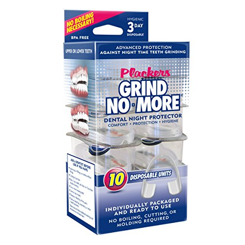 Plackers Mouth Guard Grind No More Night Time Use 1 Package (10 Count)
