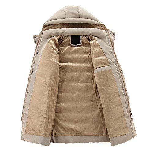 Männer Mantel Winter Trenchcoat, Sunday Herren Winterjacke Wollmischung Mantel Fleecejacke Hoody Freizeitjacke Rollkragen Bomberjacke...