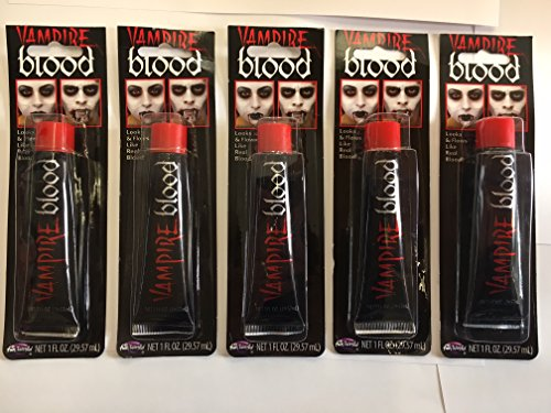 Vampire Blood ~ Make Up für Halloween Fancy Kleid Fake Blood ~ Tube X5