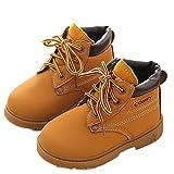 kingko Hiver Bébé Filles Garçons Armée Enfant Style de Martin Boot Chaussures Chaudes (Taille 25:Âge: 32~36 Mois, Jaune)