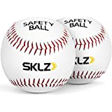 SKLZ Reduced Impact Safety Baseballs, Pack of 2 Size 7 (Dark Green/Graphite)