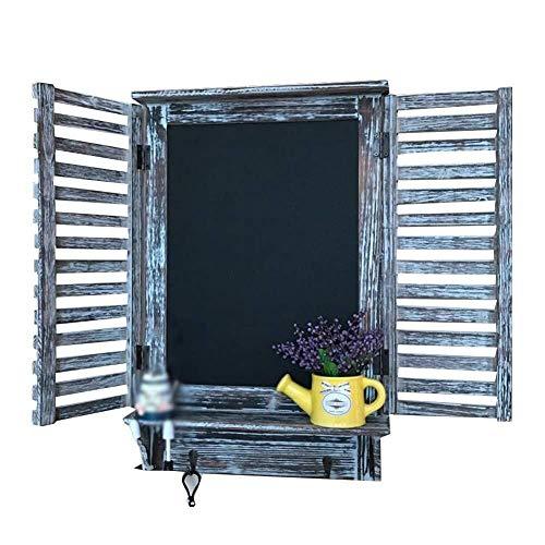 HUNYUAN-LF Message Board Kreidetafeln Multifunktions-Holz-Wand Jalousien Familien Meter Box-Shop (Color : A)