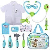 Magicfly Arzt Koffer Kinder 12-teilig, Arztkoffer Doktorkoffer zum Rollenspiel Doktor Arzt Köfferchen Spielzeug Set