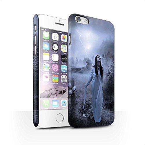 Officiel Elena Dudina Coque / Clipser Matte Etui pour Apple iPhone 6S / Maestro/Sorcier Design / Magie Noire Collection Autel/Rituel/Décès