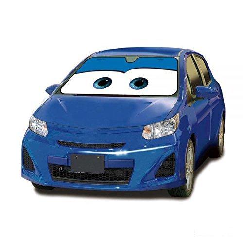 SYMTOP Windschutzscheibe Sonnenschutz Visier Auto Cars Cartoon Augen Universal-Blau