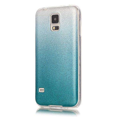 Cozy Hut iPhone SE / 5 / 5S Shell fit ultra sottile Flessibile TPU Gel Shell Custodia Case Cover Protettivo Protettiva Skin Caso,TPU Silicone Bling Caso Cover Sottile Case / Cover /Cover Shell / Prote azzurro