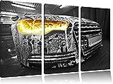 Audi Motor 3-Teiler Leinwandbild 120x80 Bild auf Leinwand, XXL riesige Bilder fertig gerahmt mit Keilrahmen, Kunstdruck auf Wandbild mit Rahmen, gänstiger als Gemälde oder Ölbild, kein Poster oder Plakat