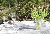 AmaCasa Vlies Tischband Tischläufer Flower Vlies Hochzeit Kommunion 23cm/25m Rolle (Silber, Vlies) - 5