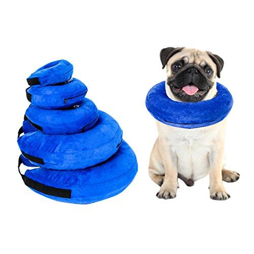 Comfysail Collar Inflable Ajustable Collar Protector para Perros y Gatos Evitar picaduras...