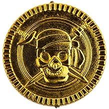 100pcs Juegos de Mesa Monedas de Cumpleaños Oro del Pirata Favorece Acuñar Piñata