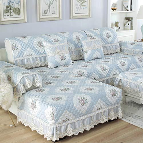 Zcm copridivano, coprisedile in tessuto elasticizzato moderno coprivaso in tessuto coprivita imbottito divano blu (un pezzo) (dimensioni : 68 * 180cm)
