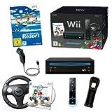 NINTENDO Wii Mario Kart Konsole schwarz mit Spiel Wii Sports Resort (12 Sport Spiele), Nintendo Remote Plus und Nunchuk Controller