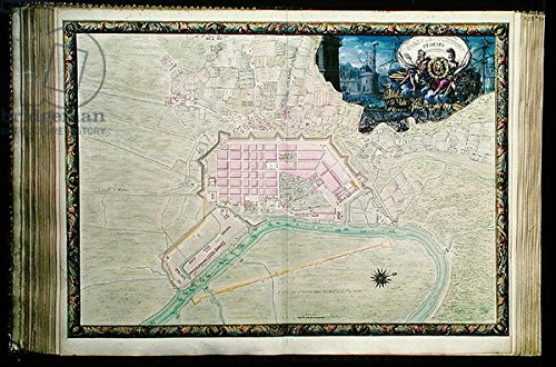 leinwand-bild-60-x-40-cm-ms-988-vol3-fol38-plan-of-rochefort-and-its-surroundings-from-the-atlas-lou