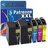 PlatinumSerie® Set 5x Patrone XXL für TE2711 - TE2714 kompatibel zu Epson WorkForce WF-3600 Series WF-3620 DWF WF-3620 WF WF-3640 DTWF