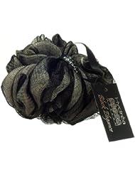 Large Fleur de Douche Exfoliante Noire et Blanche de Qualité Supérieure