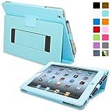 Snugg–Étui en cuir avec fonction support et stylet capacitif pour iPad mini, couleur BLEU