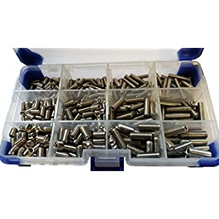 AHC K-10030 510Pc Cup Point M4 M5 M6 (Mixed Pack) Stainless Steel Socket Setscrews/Grub Screws
