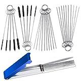 Aifuda Set mit 3 Vergaser-Kohledüsen-Reinigern, 13 Draht Taschenlampe Spitze Reiniger Werkzeug und...