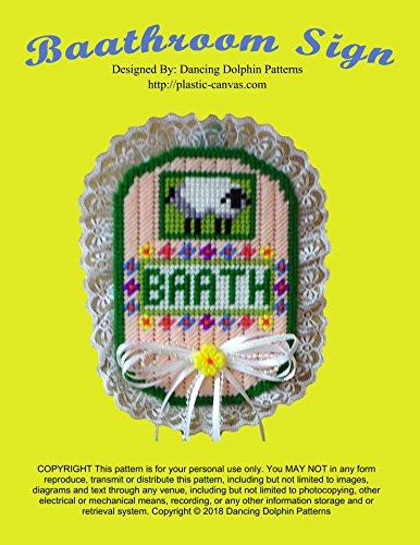 Baathroom Sign: Plastic Canvas Pattern (English Edition)