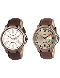 Watch Me Day And Date Analog Watches Gift Combo Set Of 2 Watches For Men And Boys DDWM-018-021